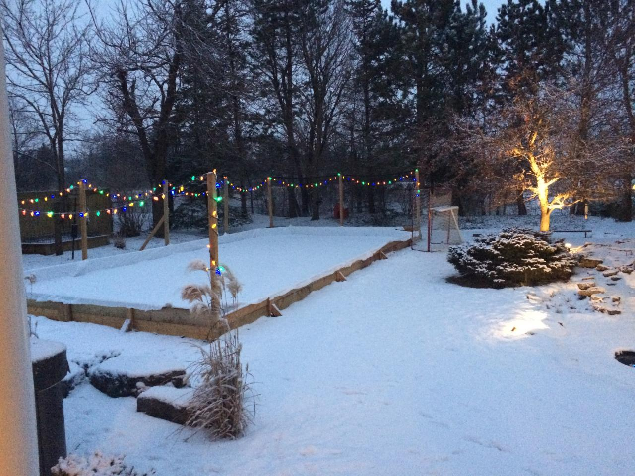 how to build your own backyard ice rink the money pit