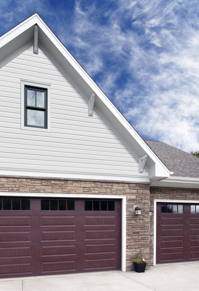 Boral provides aesthetic of real wood siding without al the maintenance hassles