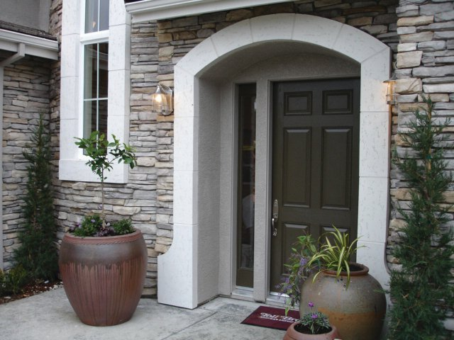 Fypon Stone and Timber Collection Accents for Entryway