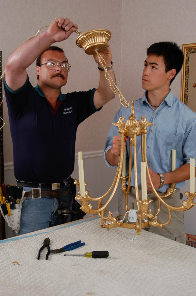 How to install a chandelier the money pit how to install a chandelier arubaitofo Images