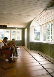 Radiant heating before and after.