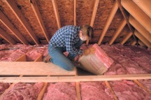 Replacing attic insulation