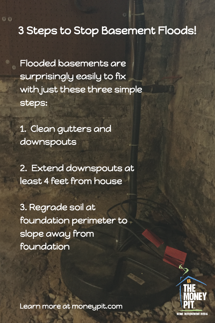 3 steps to stop a wet basement