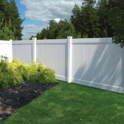 define your backyard space for summer with veranda vinyl fence from