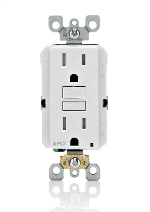 Help Protect Your Home from Electrical Fires with Leviton's SmartlockPro Outlet Branch Circuit Arc Fault Circuit Interrupter Receptacle