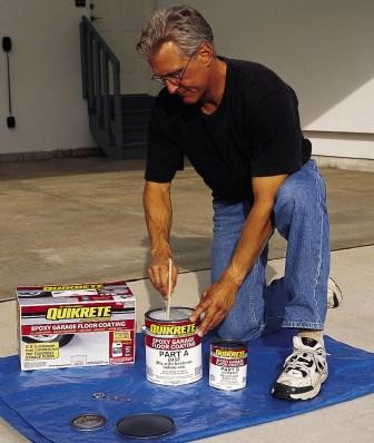 Quikrete's Epoxy Garage Floor Coating Kit