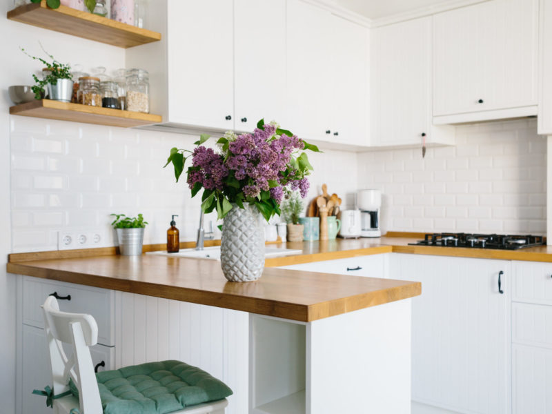 Small bright and cheery kitchen