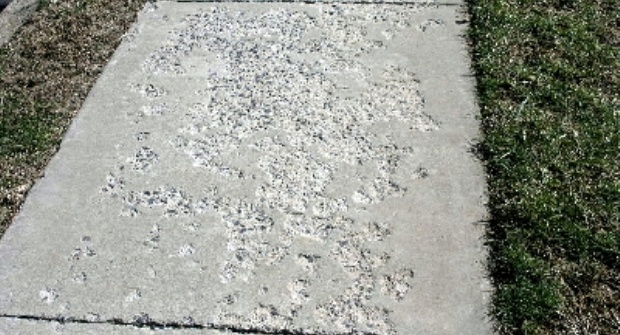 damaged sidewalk, sidewalk salt
