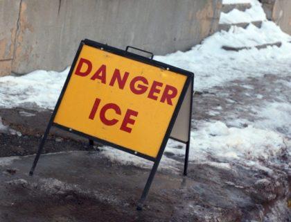 Ice Danger on Sidewalk