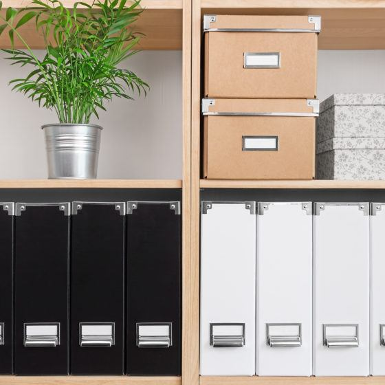 declutter, organized home office