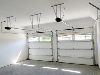 BFreshly painted garage walls