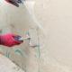 Installing fiberglass on a tub