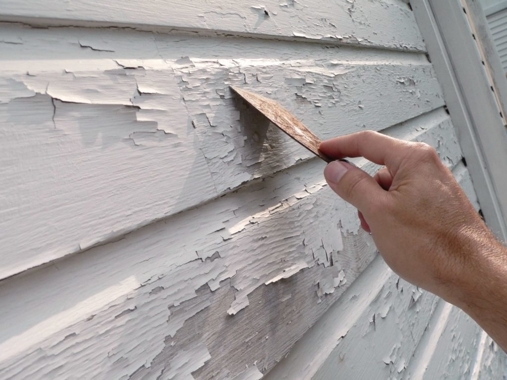 pealing paint, exterior painting