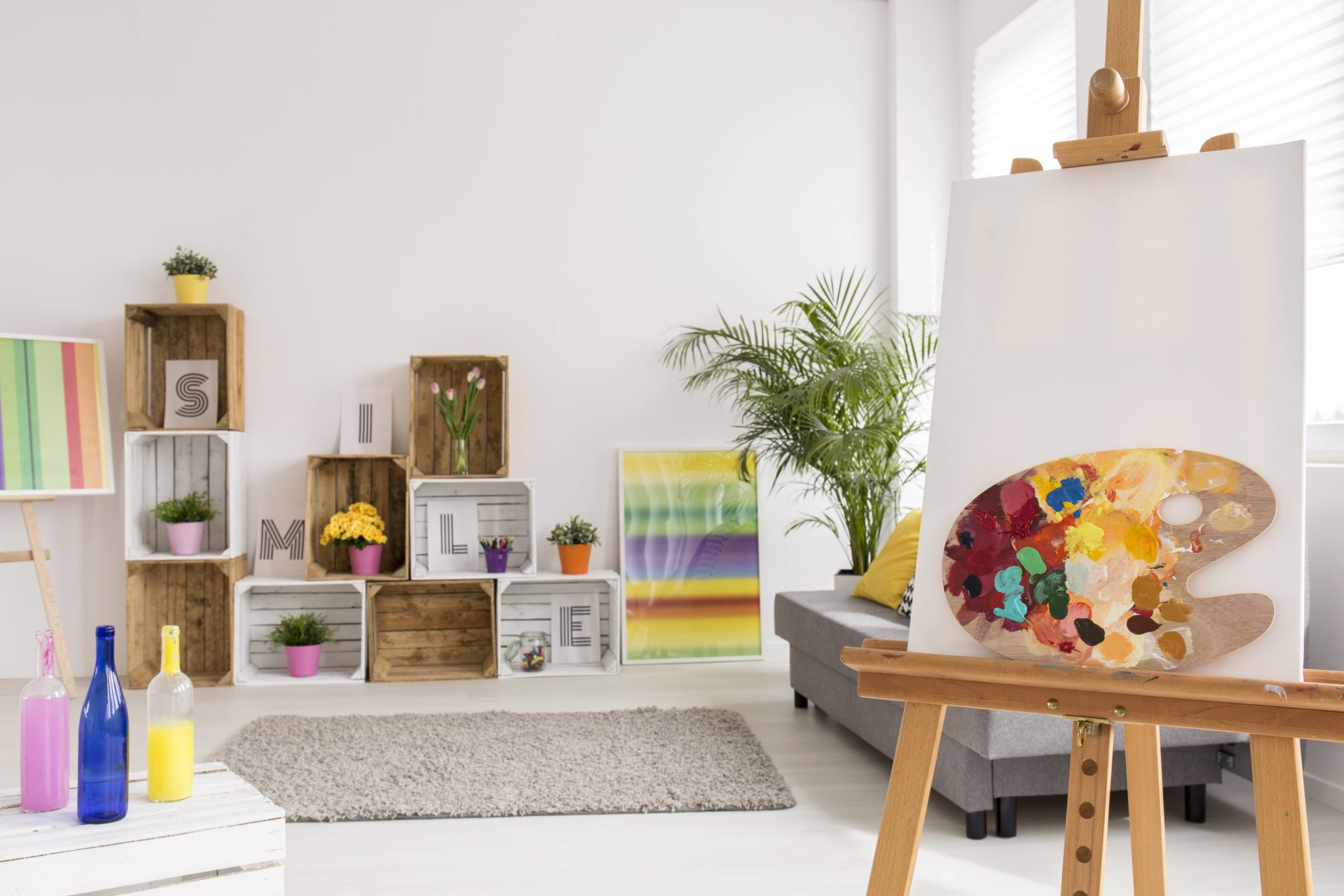 hobby room, art studio