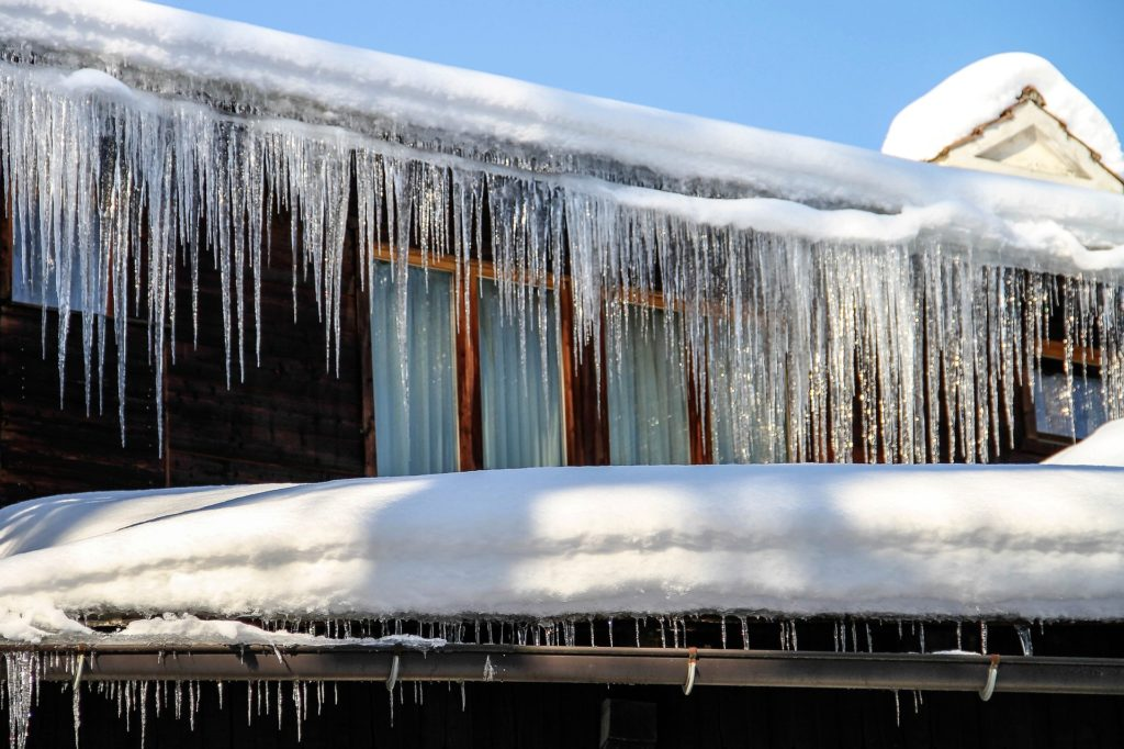 Icicles over a roof