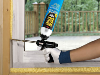 Sealing a new window in a wall