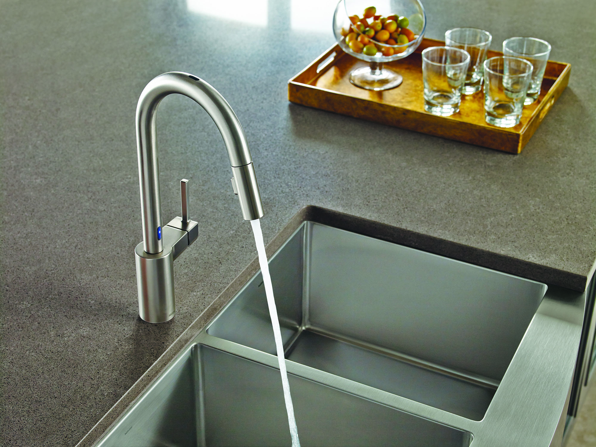 Kitchen sink with 2 faucets rugged xtremes tool bags