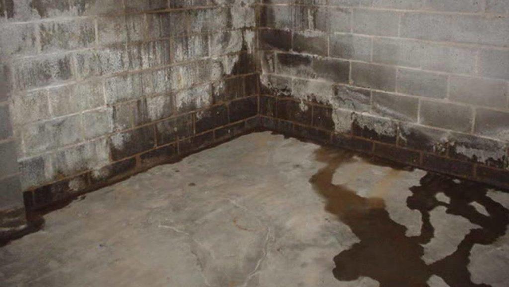 Leaking concrete basement wall