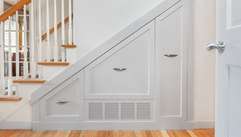 Under stair pullout cabinets