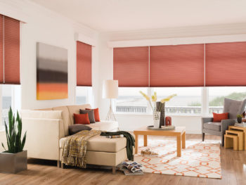 Cellular shades help reduce the feeling of drafts from windows