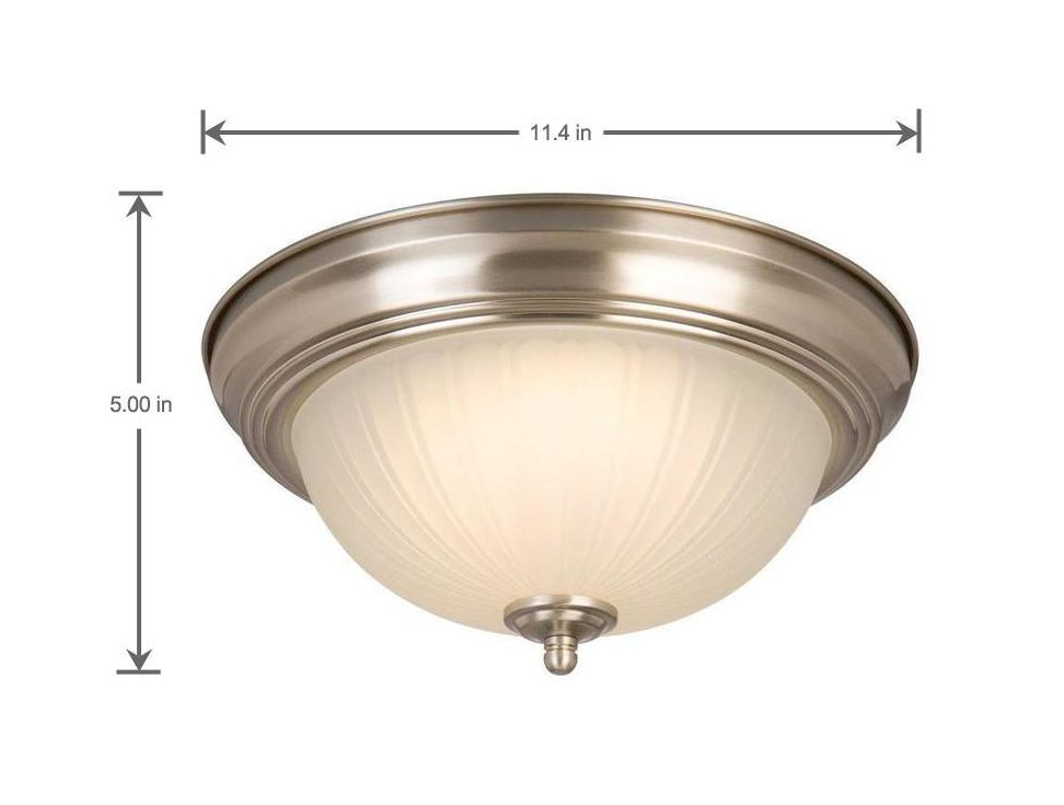 Dimentions of LED ceiling light fixture