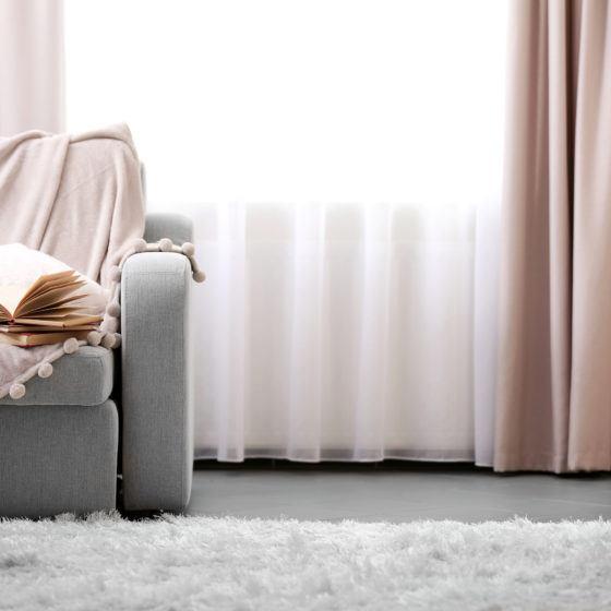 curtains, living room, sofa