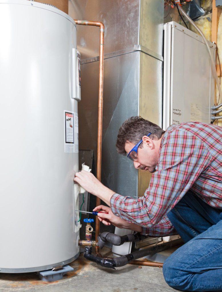 clean water heater, vacation checklist