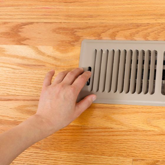 Opening up Floor Vent Heater