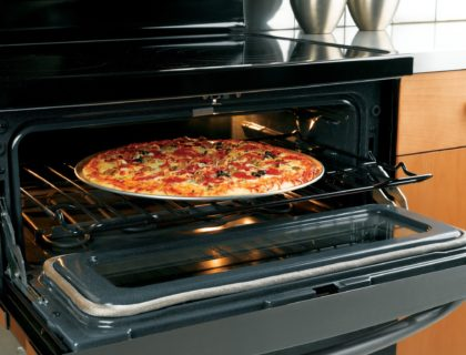 GE Double Oven Pizza