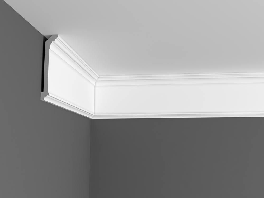 Polyurethane ceiling molding is easy to install
