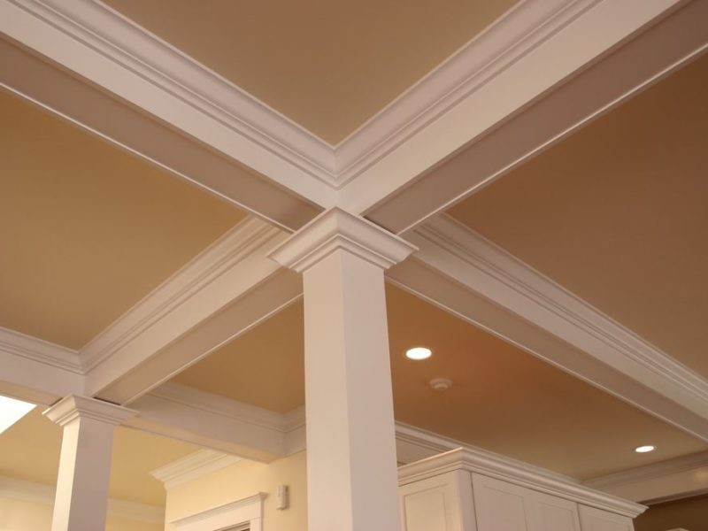 cracking between crown molding and ceiling and walls