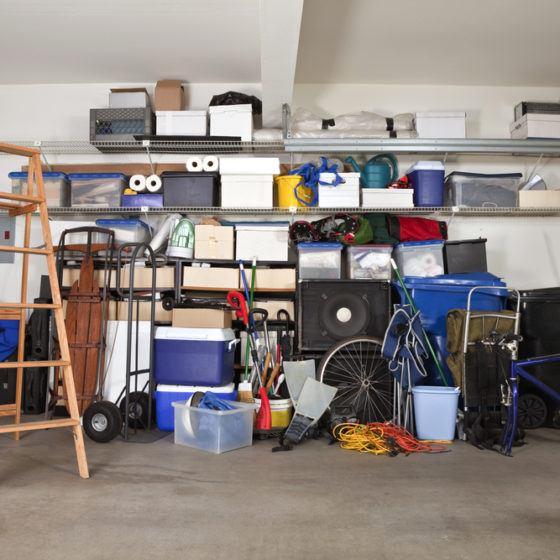 garage_messy_ladder_shelves_shelving_storage_organization_cluttered_shutterstock_59550292