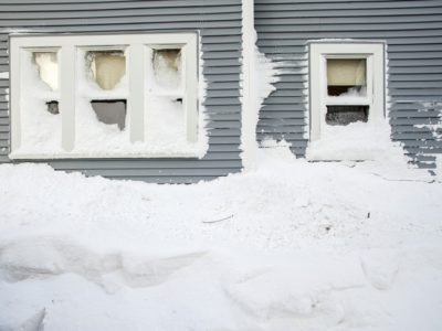 house, snow, roof