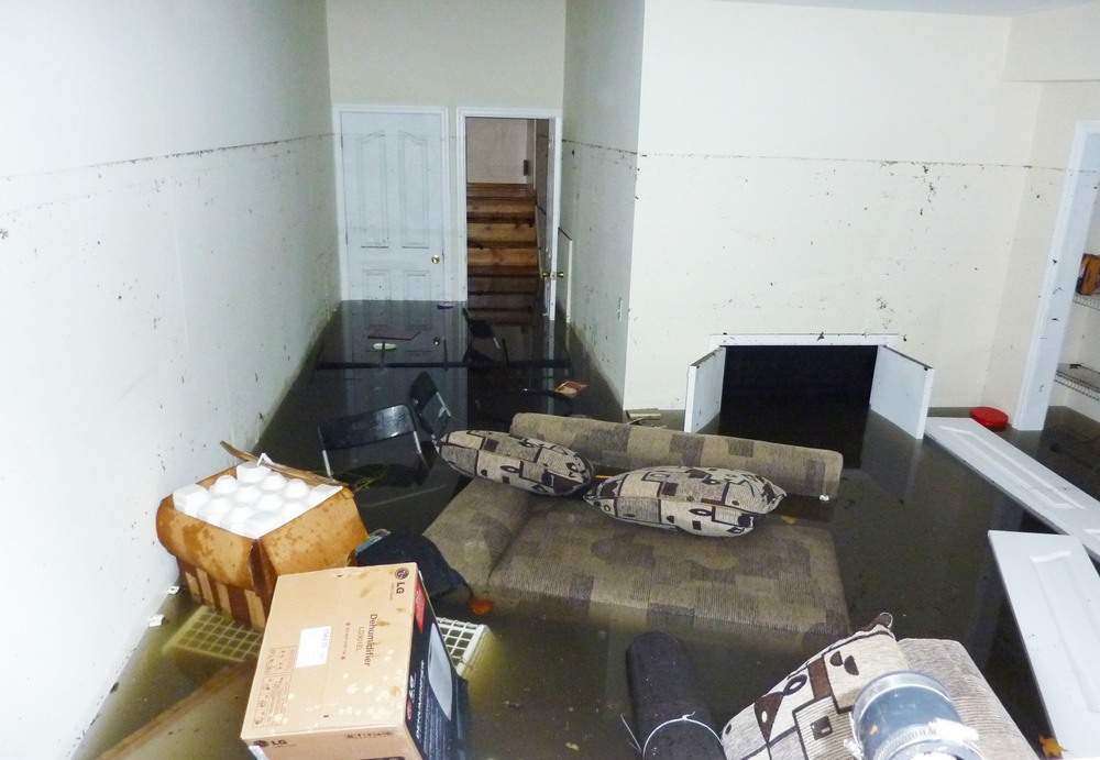 sump pump repair, basement flood