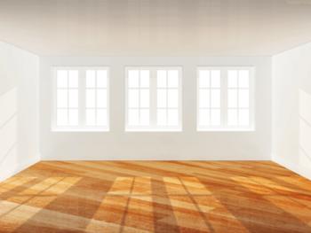 New windows in empty room