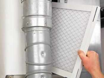 Replacing an air filter