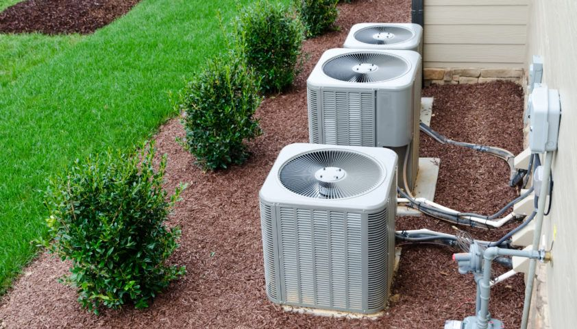 AC units connected to the residential house