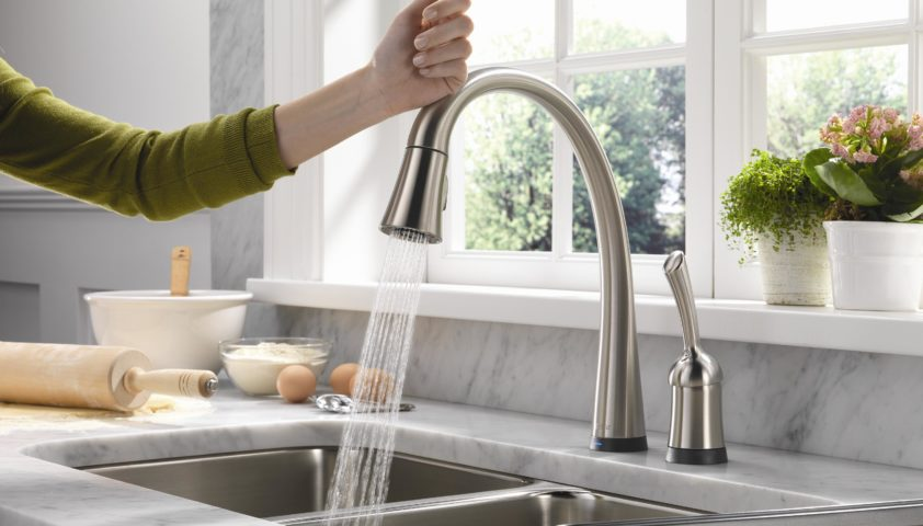 Delta Faucet Pilar Pull Down with Touch2O
