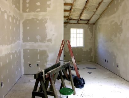 room remodel with new sheetrock – drywall