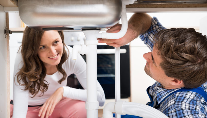 fixing kitchen sink pipes