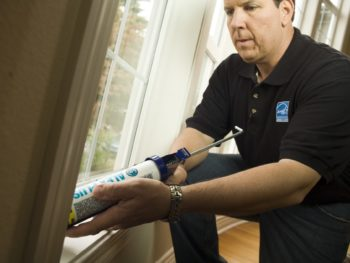 caulk, window, drafts,