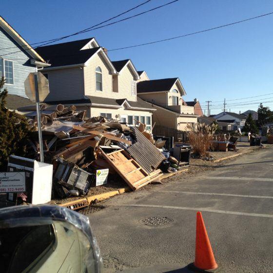 hurricane flood debris