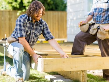 wood deck, building, construction, backyard deck
