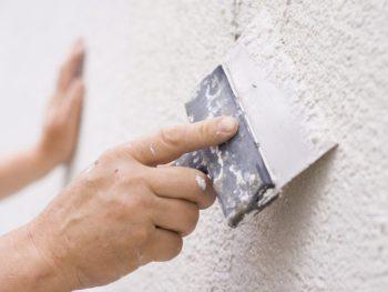 seal cracks and repaint stucco home