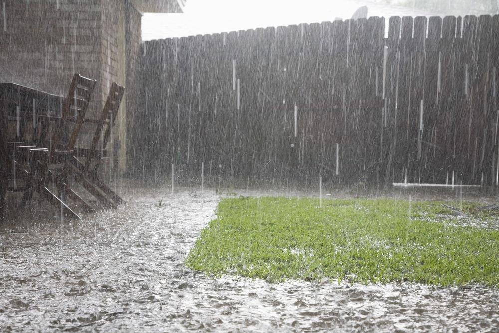 Water flooding a yard