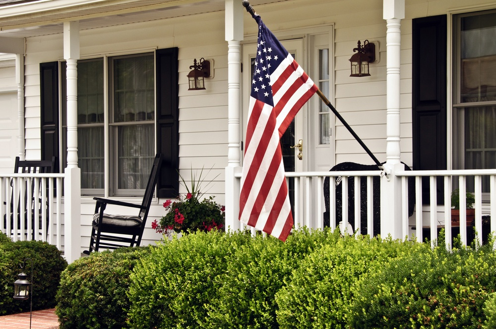flag, american flag, How to attach a flagpole