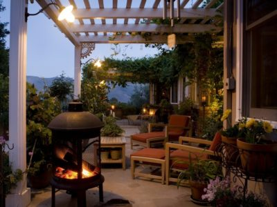 strong outdoor lighting