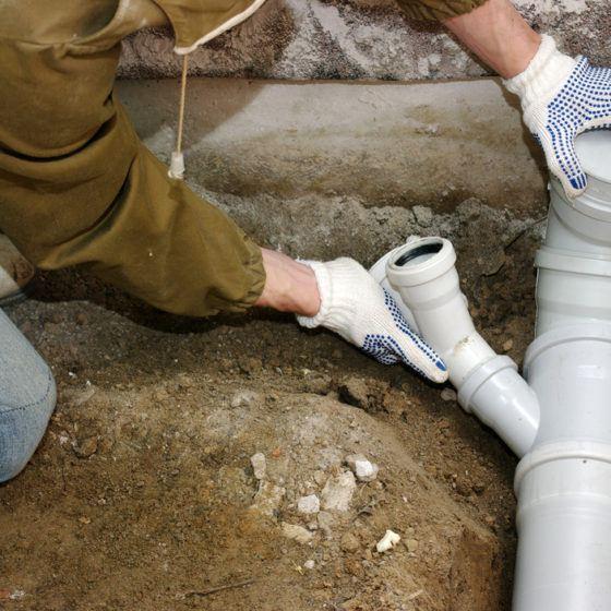 Plumber PVC Drain Pipe