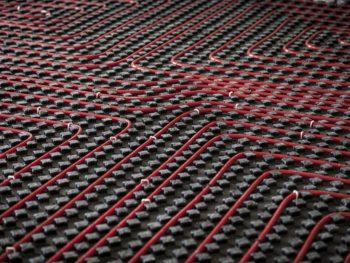 PEX radiant floor heat
