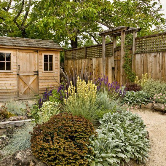 reduced_lawn_yard_backyard_wood_wooden_fence_shed_low_maintenance_landscape_landscaping_garden_shutterstock_69791506